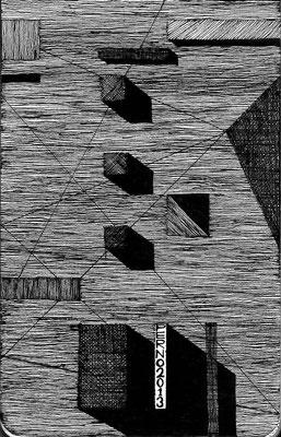 Il muro della memoria_china su taccuino_140x90 mm_2013