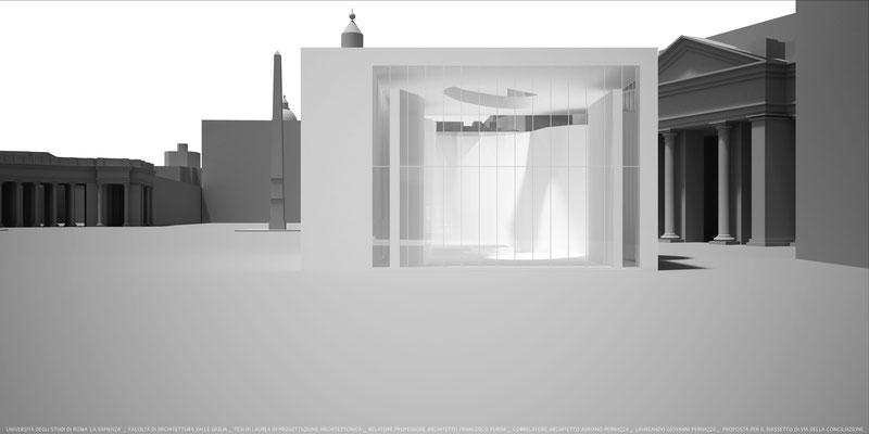 Tesi di Laurea in Architettura - Riassetto di via della Conciliazione in Roma_2013