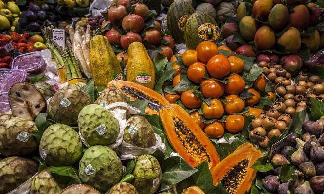 Barcelone en Espagne - Marchés de légumes et fruits - Photos de villes - Paysages urbains - Vacances en Espagne - Dominique MAYER - www.dominique-mayer.com