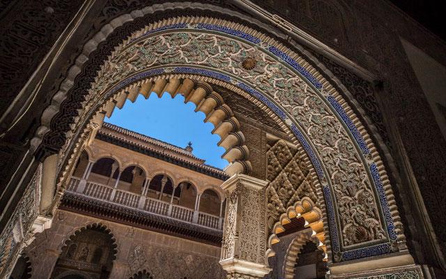 Le Real Alcazar à Séville - Les rues de Séville - Flâner à Séville - Séville en Espagne - Photos de Séville - Architecture à Séville - Vacances en Espagne - Dominique MAYER - www.dominique-mayer.com