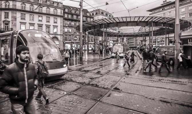 #Place de l'Homme de fer - #Strasbourg - #Photos de Strasbourg - #Paysages urbains - #Photos de rues - #Dominique MAYER - www.dominique-mayer.com
