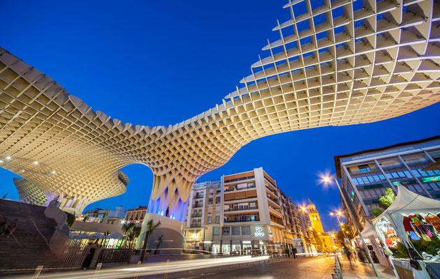 Métropole Parasol à Séville - Les rues de Séville - Flâner à Séville - Séville en Espagne - Photos de Séville - Architecture à Séville - Vacances en Espagne - Dominique MAYER - www.dominique-mayer.com