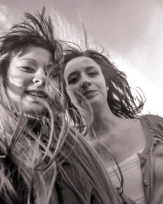 Claire & Virginie - #Portrait N&B - #Dominique MAYER - #Photographie - www.dominique-mayer.com