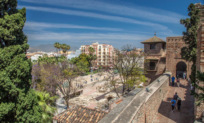 L'Alcazaba - Malaga en Espagne - Photos de Malaga - Architecture de Malaga - Vacances en Espagne - Dominique MAYER - www.dominique-mayer.com