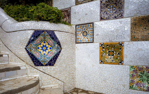 Barcelone en Espagne - Antoni GAUDI, architecte - Parc Güell - Photos de villes - Paysages urbains - Vacances en Espagne - Architecture de Barcelone - Dominique MAYER - www.dominique-mayer.com