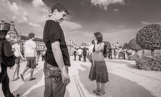 Les badauds - #Le jardin des Tuileries - Architecture de Paris - #Paris - #Photos de Paris - #Paysages urbains - #Dominique MAYER - www.dominique-mayer.com