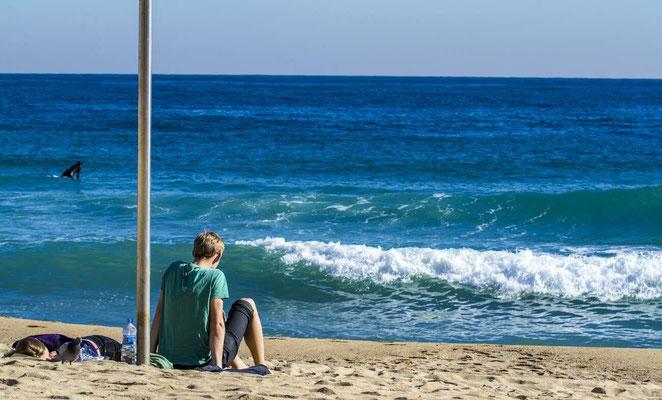 Barcelone en Espagne - Photos de plages - Paysages marin - Vacances en Espagne - Badauds - Dominique MAYER - www.dominique-mayer.com