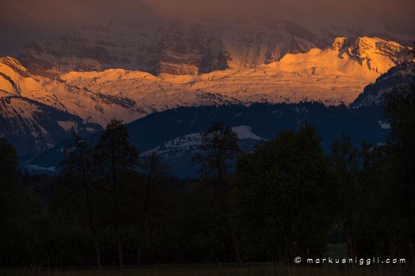 Blick vom Greifensee in die Glarner Alpen