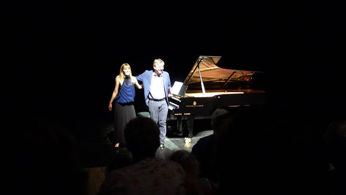 Suzana Bartal et le compositeur Eric Tanguy