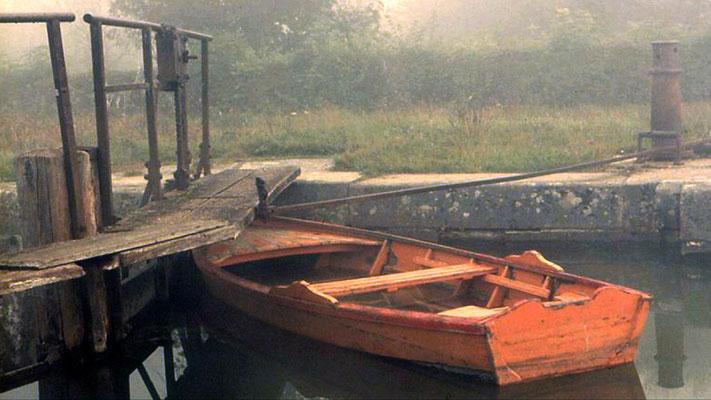 Sur l'ancien canal de Barberey, près Troyes en 1971