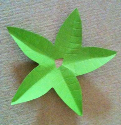 Blätterskelett anritzen und knicken