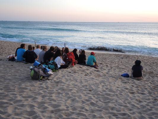 Pilger am Praia Mar de Fora