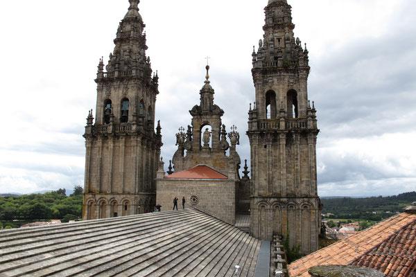 Auf dem Dach von der Kathedrale