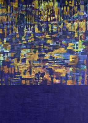 Spiegelung 2010  Acryl auf Leinen 180 x 135 cm