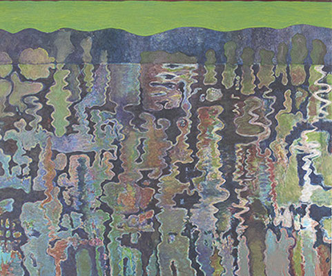 Spiegelung   Acryl auf Leinen 112 x 135cm