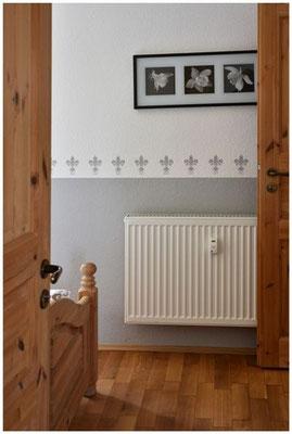 Ferienwohnung Eingang Schlafzimmer