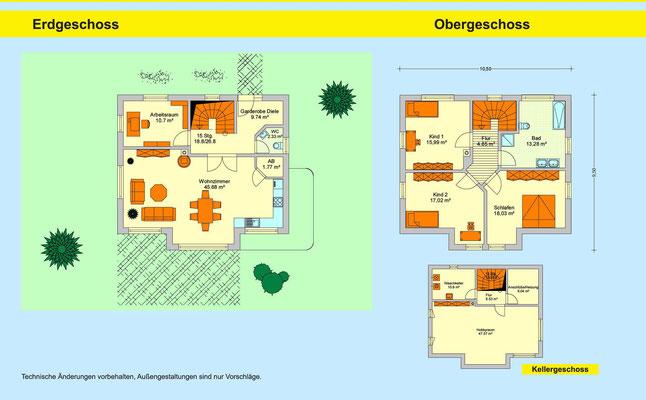 Metzgerhaus Amberg Grundriss Haustyp Flieder Variante B