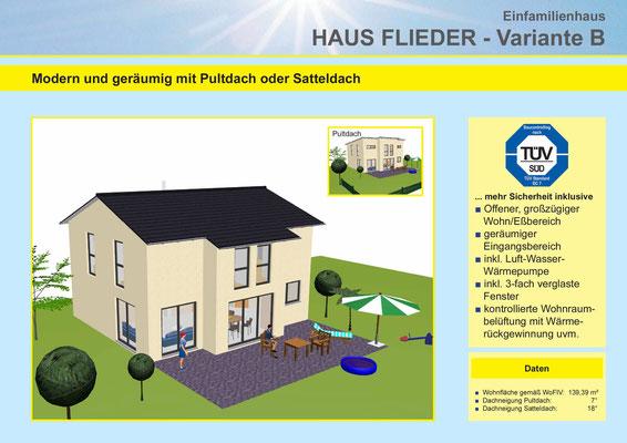 Metzgerhaus Amberg Hausytyp Flieder Variante B
