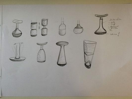 Erste Skizzen/Entwürfe zum Kernziel bewegtes Sitzen