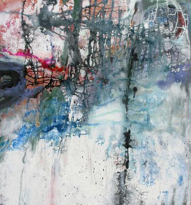 Entrance 3, Acryl auf Leinwand, 130x140x4 cm, 2006, CHF 4'500
