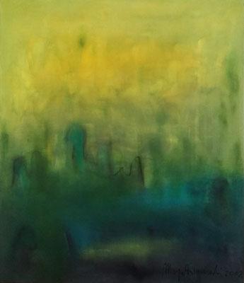 Spaziergang, Öl auf Leinwand, 120x140x2 cm, 2002