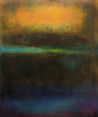 Faszination Rothko et cetera 7, Öl auf Leinwand, 100x120x2 cm mit Stahlrahmen, 2002, CHF 4'500