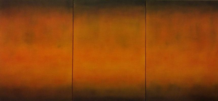 Motivation, Öl auf Leinwand, 150x70x4 cm, 3-teilig, 2004