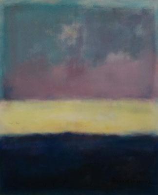 Faszination Rothko et cetera 15,Öl auf Leinwand, 100x120x2 cm, 2001, CHF 3'100