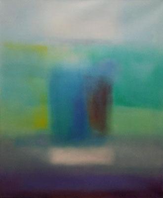 Raumtaucherin 3, Öl auf Leinwand, 100x120x4.5 cm, 2004