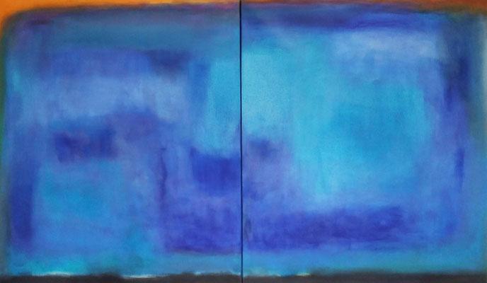 Faszination Rothko et cetera 51, Öl auf Leinwand, 240x140x4.5 cm, 2-teilig, 2004, CHF 11'200