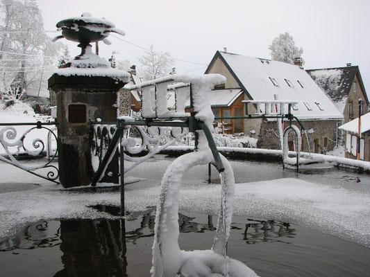 Fontaine de la Godivelle en hiver