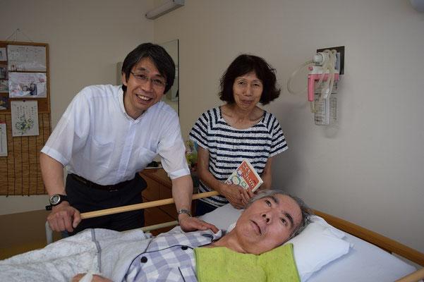 信治さんを訪問、どのタイミングか正確には忘れましたが、奥さまの安佐子さんと。夏なのは確か。