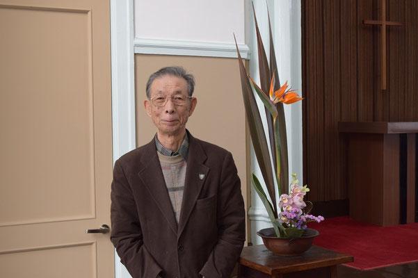 2015年4月、森牧師が着任して間もなく、一成さんは、歓迎の思いを様々な形で表して下さった。