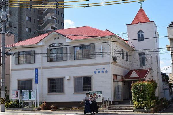 【西大寺の町並みシリーズ(その53 )】西大寺の教会と言えば、1903年(明治36年創立)の旧・日本組合教会旭東基督教会=現在の旭東教会です(笑)