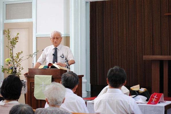2015年8月、W兄、平和聖日に戦争体験をもとにお話し下さった。