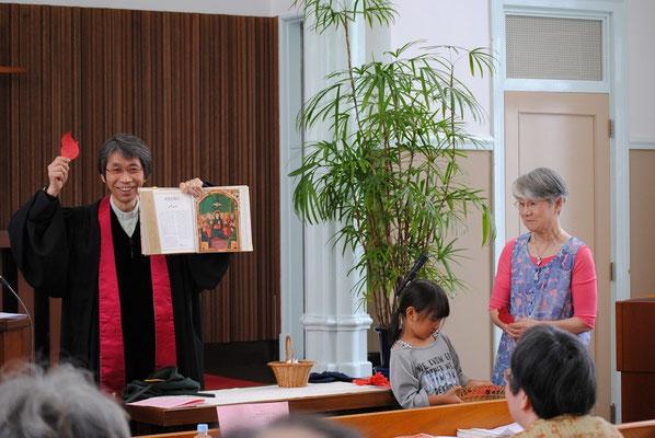 2015年5月、ペンテコステファミリー礼拝にて