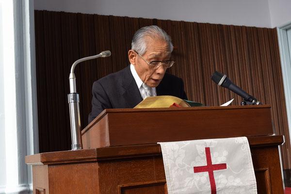 今年92歳になられる正さんが約2年振りに礼拝の司式を担当されました。体調がすぐれない時期もありましたが一生懸命に努力もされ快復されました。