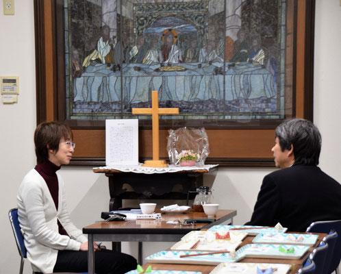 FEBCキリスト教放送局・日本FEBCのスタッフの安保ふみ江さんが旭東教会のこと、森牧師のことなど取材のひとときです。1/28(土)の19時頃。