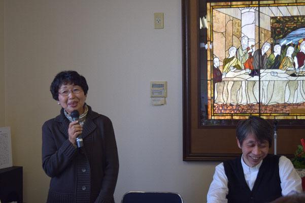 皆さんのことを知って、この教会に来てよかったと思いました と静恵さん