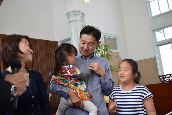 2016年春、広島から里帰りのご一家と共に。