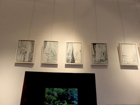 Marie Clémentine Marès  - gravures marouflé sur bois
