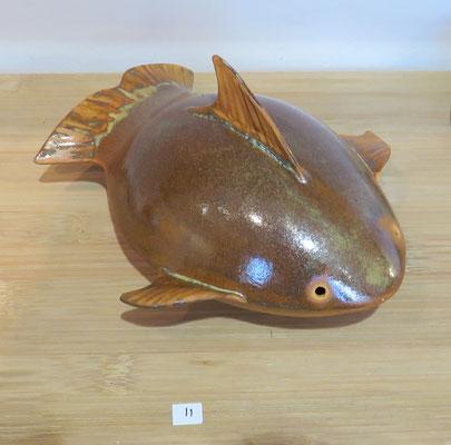 Marie-Anne Guillemain - poisson en grès