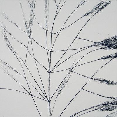 Isabelle Dansin- gravure - Idéogramme (11) - 15x15cm