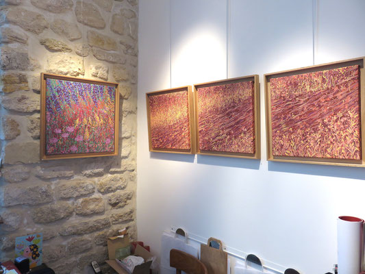 Peintures de Françoise TROTABAS :  tryptique