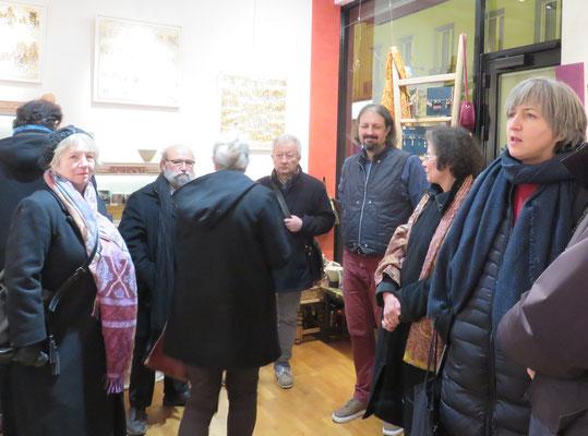 """Vernissage le 6 janvier 2017 a la boutique Rouge Grenade - Artiste plasticien  : Alain Guillon -  Theme : """"voyages"""""""