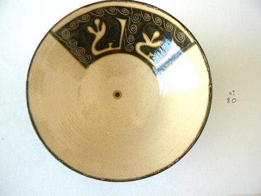 Plat motif calligraphique3 - Najo  - 20cm de diamètre