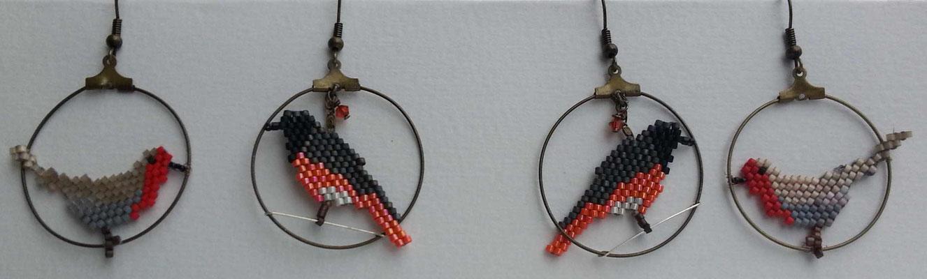 Florence Tissot - Boucle d'oreille:  tissage de perle