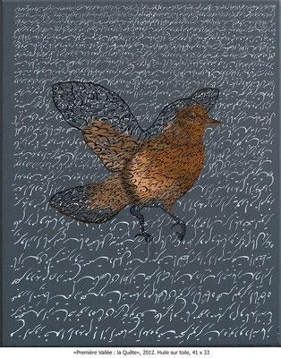 Katayoun Rouhi -  Première vallée: la quête - huile sur toile -2012- 41x33cm