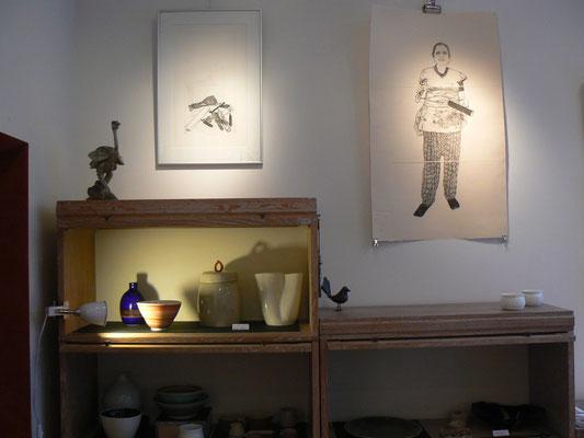 Christine Gendre-Bergère - gravures- Anju,sa tenue de travail et ses outils