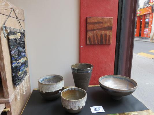 Céramique en grès noir chamotté : Francine herbillon
